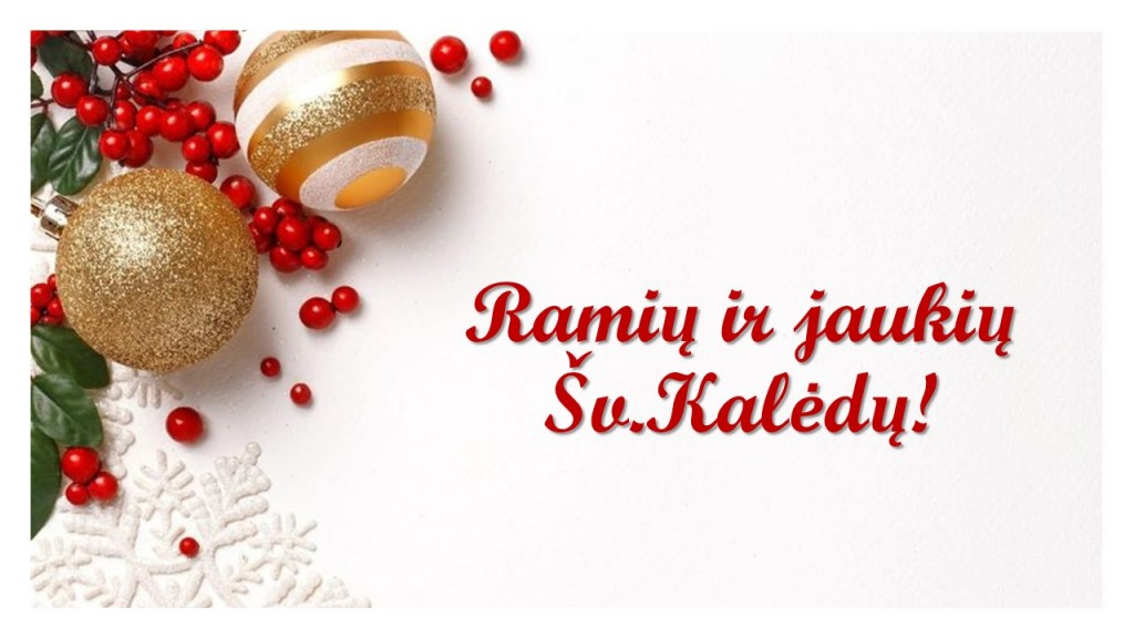 Ramių ir jaukių Šv.Kalėdų!