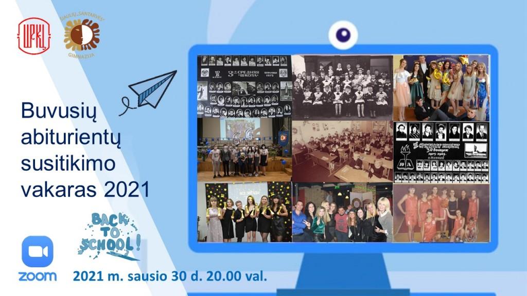 Buvusių abiturientų susitikimo vakaras 2021